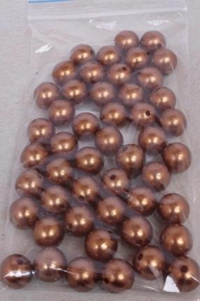 Бусины (А) жемчуг бронза  (16мм) в пакете 100гр