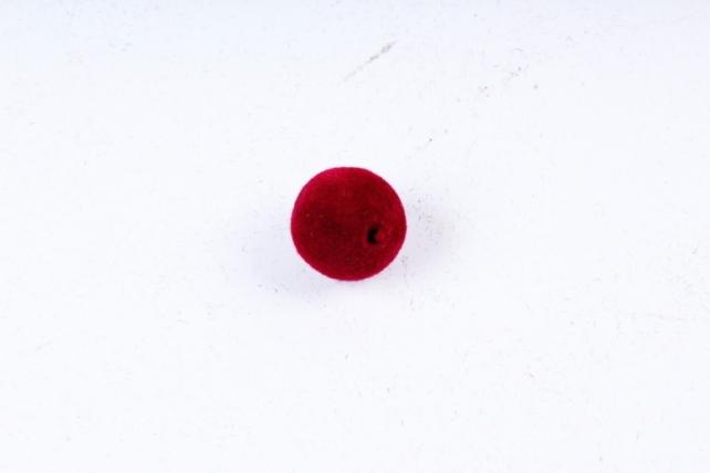 Бусины  12мм Круглые бархат вишневые  (100гр)