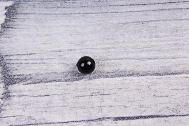 Бусины  6мм Круглые Чёрные (50гр) 6MMCOL24