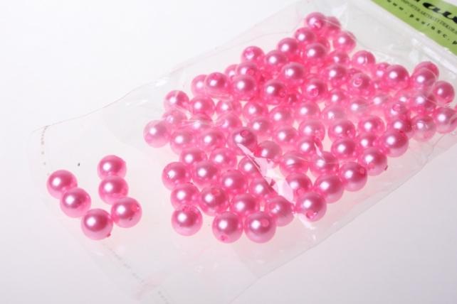 бусины 10 мм 50 гр. бусины круглые цветные 10мм (50гр) pl цвета в ассортименте - розовые 2500