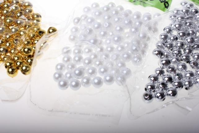 бусины 10 мм 50 гр. бусины круглые цветные 10мм (50гр) pl в ассортименте - белый 2500