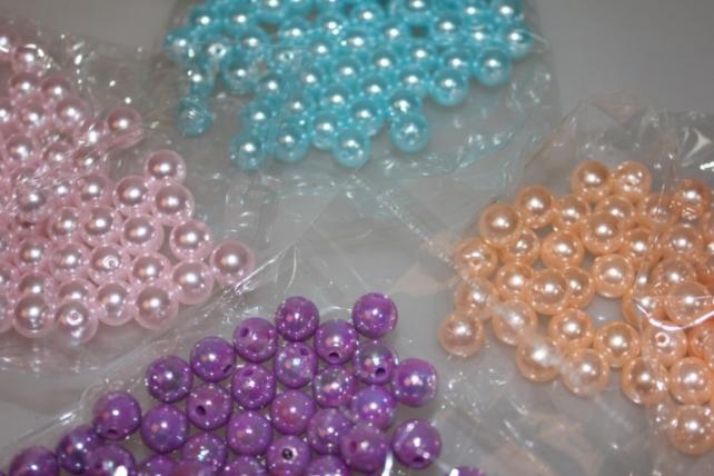 бусины 10 мм 50 гр. бусины круглые цветные 10мм (50гр) pl в ассортименте - голубой 2500
