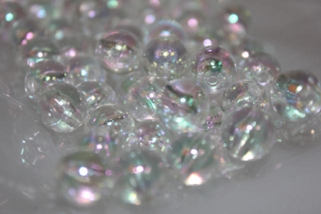 Бусины Круглые цветные 10мм (50гр) PL в ассортименте - Прозрачный
