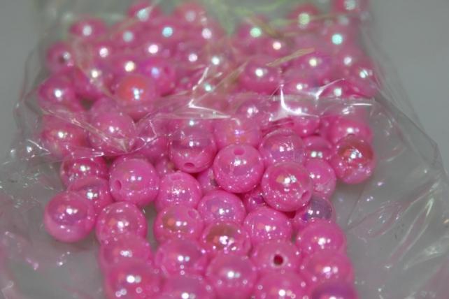 бусины 10 мм 50 гр. бусины круглые цветные 10мм (50гр) pl в ассортименте - розовый 2500