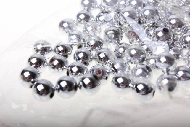 бусины 10 мм 50 гр. бусины круглые цветные 10мм (50гр) pl в ассортименте - серебро 2500
