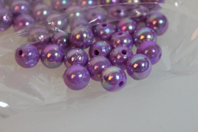 бусины 10 мм 50 гр. бусины круглые цветные 10мм (50гр) pl в ассортименте - сиреневый 2500