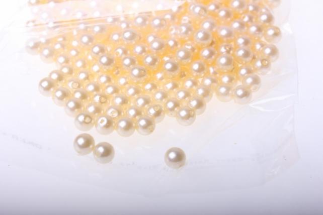бусины 6 мм 50 гр. бусины круглые цветные (6мм) в пакете 50гр pl в ассортименте - шампань 2384