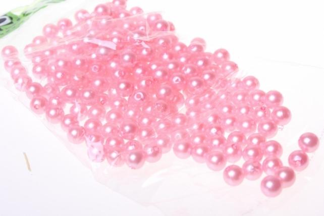 бусины 8 мм. 50 гр. бусины круглые цветные 8мм (50гр) pl цвета в ассортименте - розовый 2499