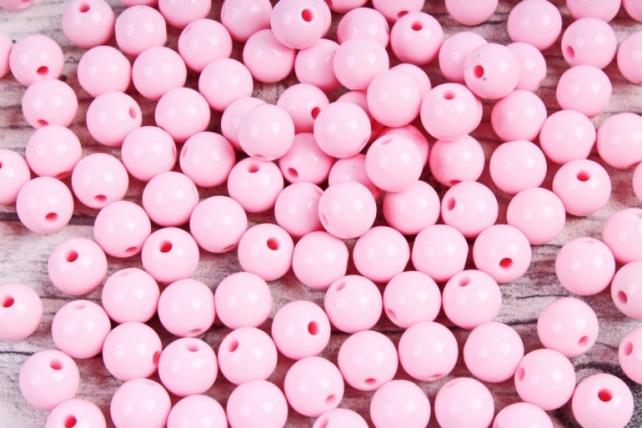 Бусины  8мм Круглые матовые Розовые 8CMMJROZ  (50гр)