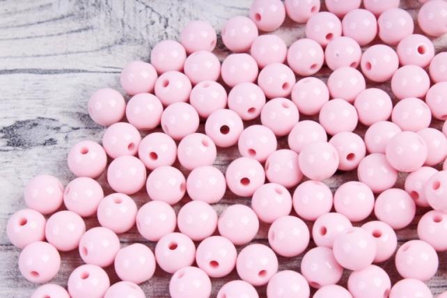 Бусины  8мм Круглые матовые Светло-розовые KN004(50гр)