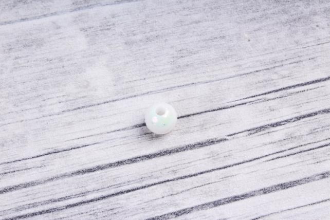 Бусины  8мм Круглые перламутр Белые  (50гр) 8MMAB41