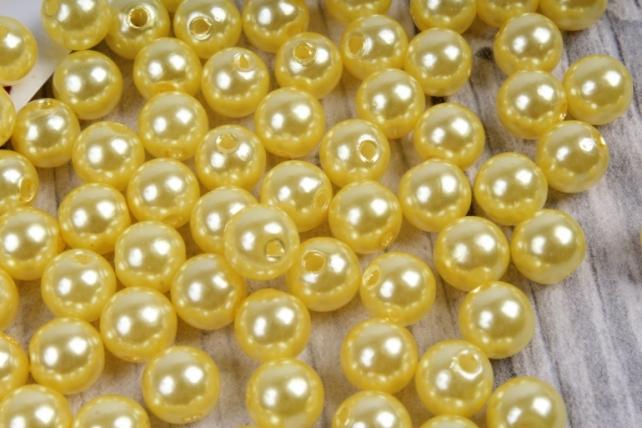 бусины    круглые перламутр желтые  (50гр) pl в асс. kn8-04  6257