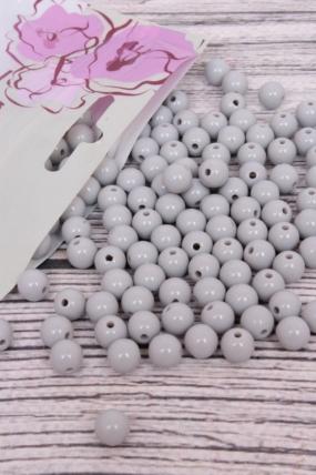 Бусины  8мм Круглые перламутр Молочный  (50гр) PL в асс. KN008
