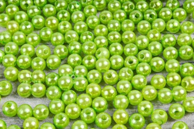 Бусины  6мм Круглые Салатовые (50гр) K6JZA