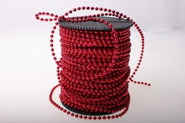Бусины на бобине 4мм на 40м в ассортименте - Красный