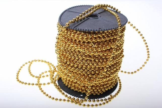 Бусины на бобине 4мм на 40м в ассортименте - Золото