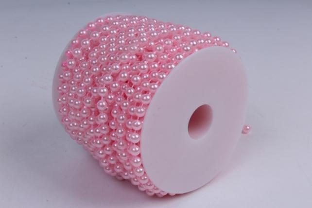 бусины на бобине .6мм*20м розовый жемчуг  9531  6abs20m-p50