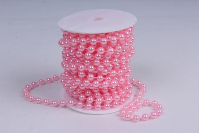 Бусины на бобине .8мм*10м светло-розовые   9678  8ABS10M-Р4