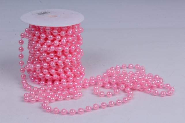 Бусины на бобине .8мм*10м ярко-розовые   9685  8ABS10M-Р50