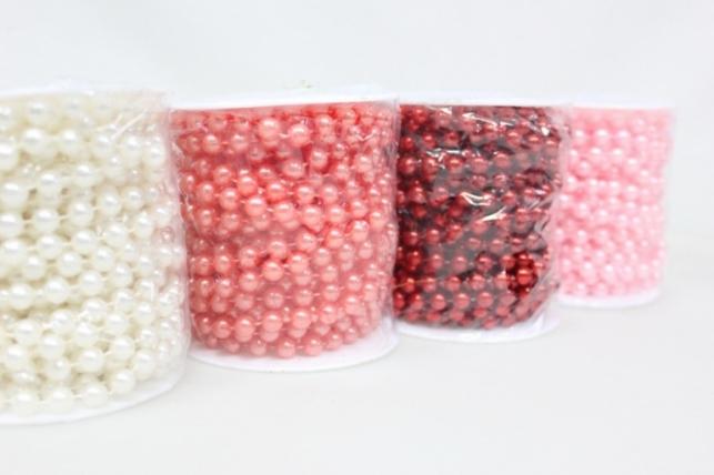 Бусины на бобине 8мм х 10м цвета в ассортименте