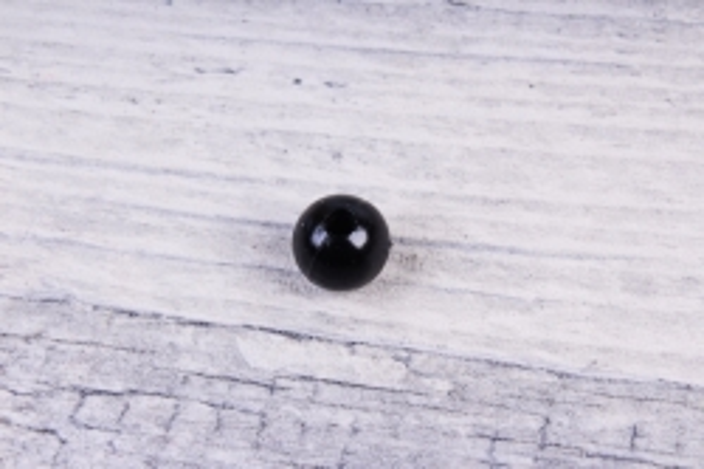 Бусины  10мм  Круглые Чёрные (50гр) 10MMCOL24