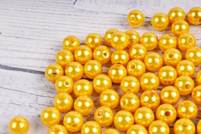 Бусины  10мм  Круглые Жёлтые (50гр) K10ZOB