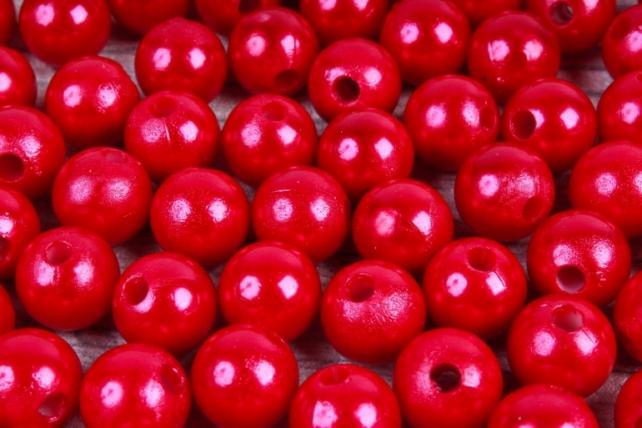 Бусины  10мм  Круглые Красные (50гр) K10-07
