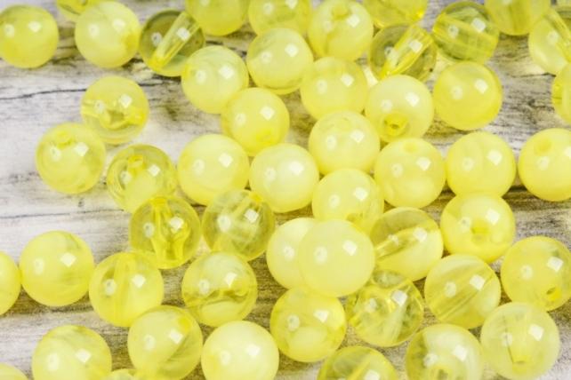 Бусины  10мм  Круглые Лимонные (50гр) S01-10 804