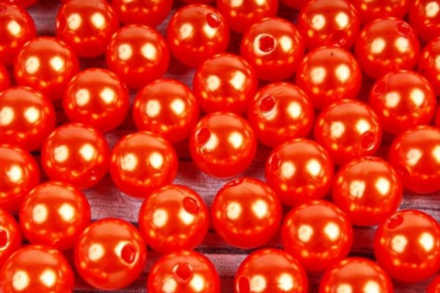 Бусины  10мм  Круглые Оранжевые (50гр) XD10-H4