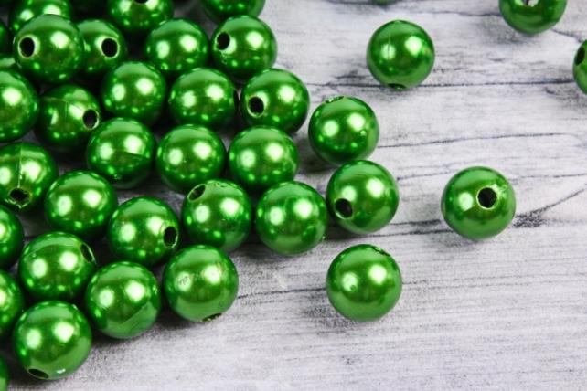 Бусины  10мм  Круглые Зелёные металл(50гр) K10BUT