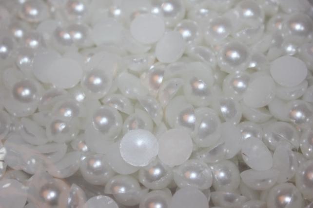 Бусы половинчатые 250гр (круглые, овал, сердце) в ассортименте - Белый в ассортименте