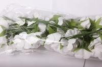 бутаньерка пион с бусиной белый (6 букет. по 6шт)