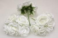 Бутаньерка Роза 3см  шампань (3 букет. по 6шт)