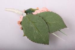 """бутон """"пион"""" (2шт в уп) оранжевые пионы/розовые тычинки h=12cm"""