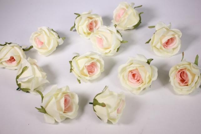 бутон розы бело-розовый (в уп. 12 шт) d=9см mght