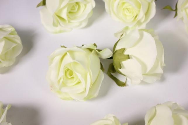 бутон розы белый (в уп. 12 шт) d=9см mght