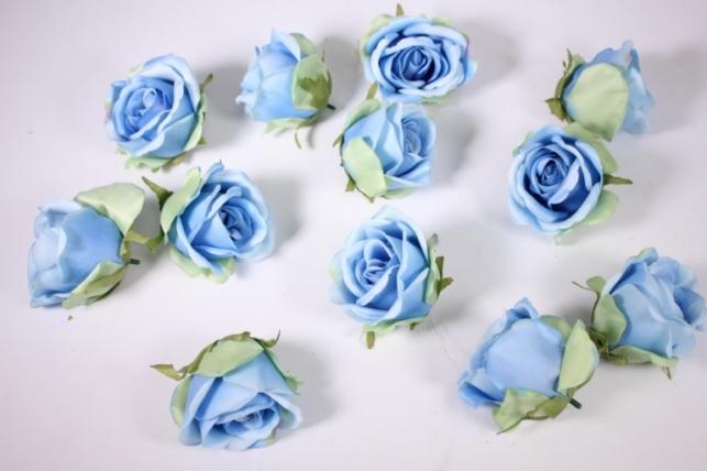 бутон розы голубой (в уп. 12 шт) d=9см mght