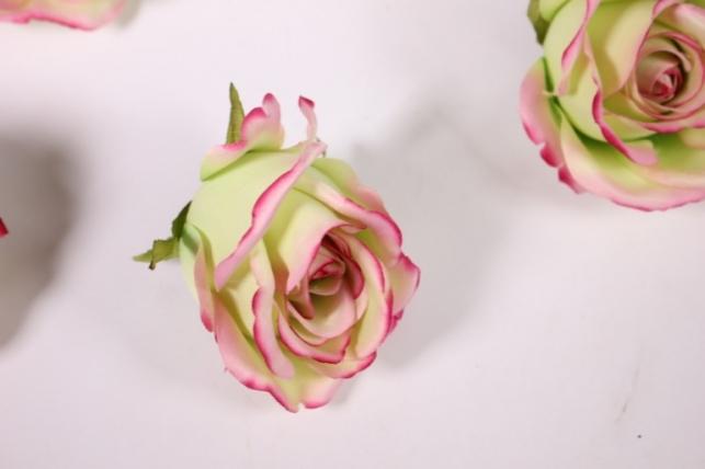 бутон розы малиново - салатовый (в уп. 12 шт) d=9см mght
