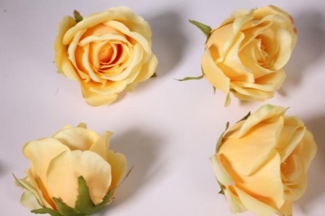 бутон розы оранжевый (в уп. 12 шт) d=9см mght