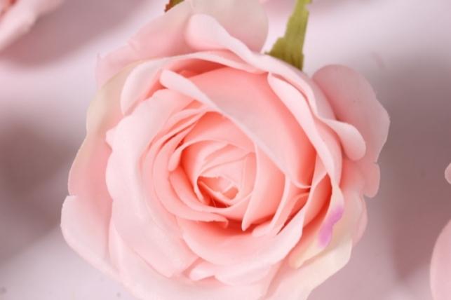 Бутон Розы Розовый (в уп. 12 шт) d=9см MGHT