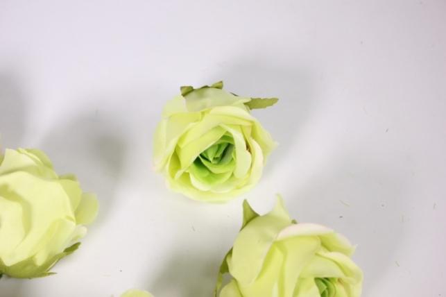 бутон розы салатовый (в уп. 12 шт) d=9см mght