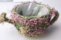 Чайник-кашпо из травы 12х12х10см
