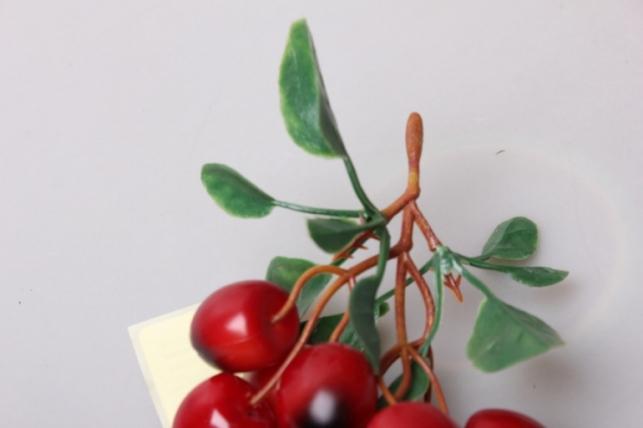 черешня красная на ветке
