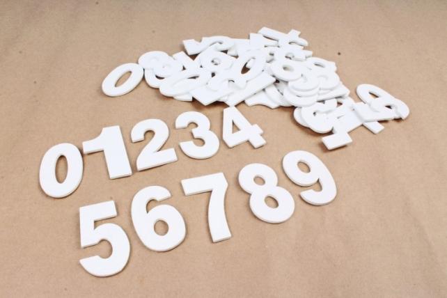 Цифры деревянные 5см (50шт/уп) 8DY5783  0469