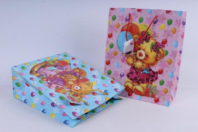 cумка люкс мишки с блестками детские (26*32*12) микс  (20шт в уп)  d14  цена за 1шт
