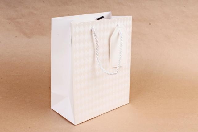 Cумка Люкс Ромбики белая     (12 шт/уп) Цена за 1шт  L753