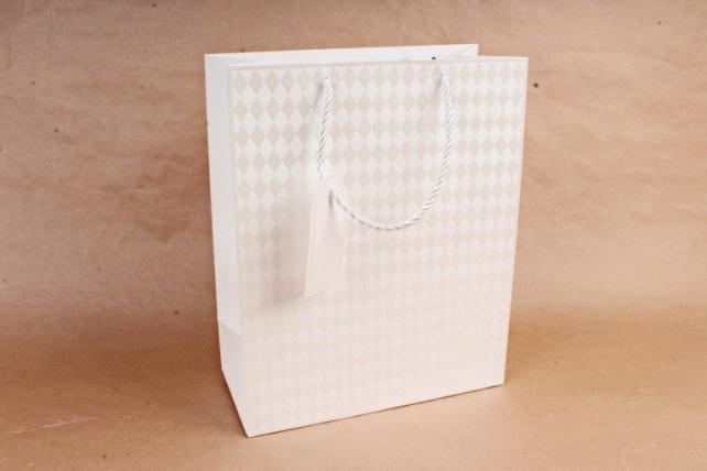 Cумка Люкс Ромбики белая     (12 шт/уп) Цена за 1шт  L754