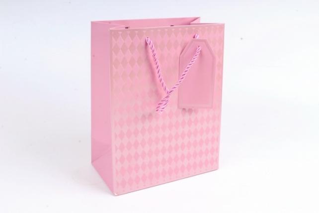 Cумка Люкс Ромбики розовая    (12 шт/уп) Цена за 1шт  L753
