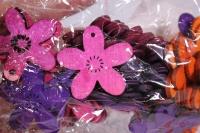 цветочки 4 см дерево 60шт в уп gw2014175 5559