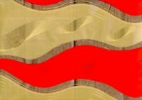 Цветочная плёнка - Рулон 0.7 Пламя - Красно-бронзовый
